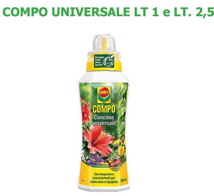 Concime Liquido Compo Universale lt 1 e lt 2,5